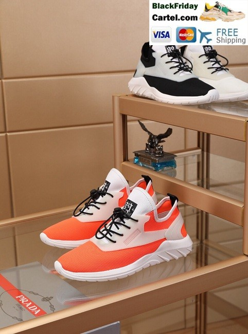 caa0c8fc High Quality Prada 2019 New Classic Orange Sports Men's Shoes