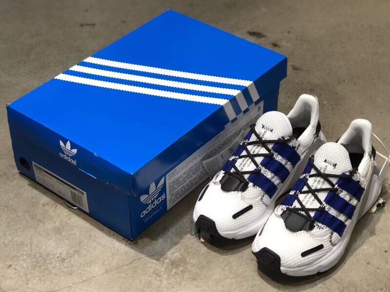 4702a57115aa3 2019 New Replica Adidas Yeezy Boost 600 White   Blue Stripe Shoes 1 ...