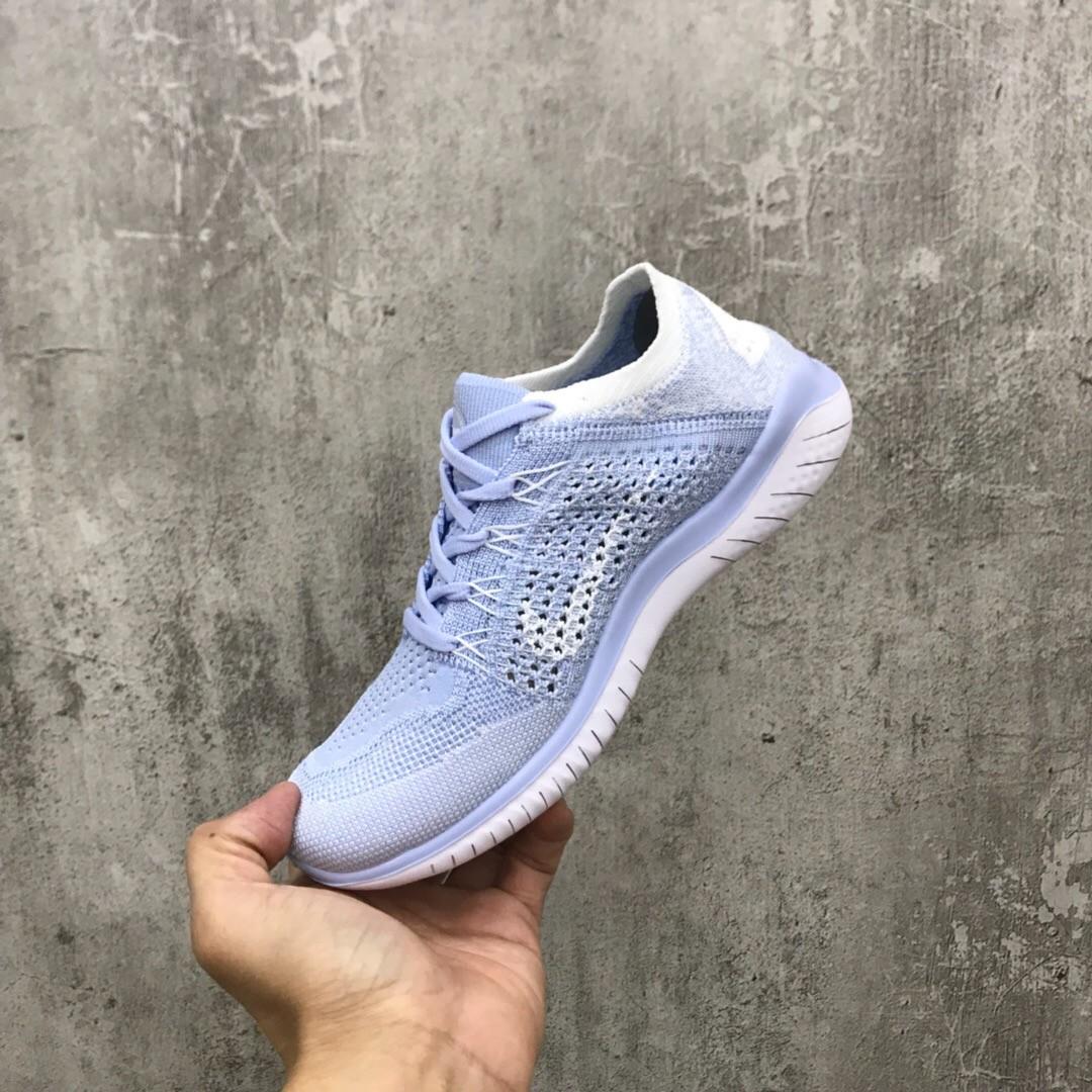 2019 New Replica Nike Free Flyknit Light Blue Running schuhe