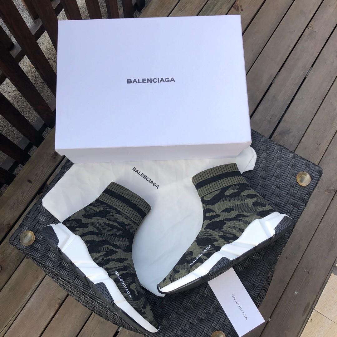 e4d1fdd7a837 2018 New Replica Balenciaga Groovy Green Sock Shoes 1 1 Quality