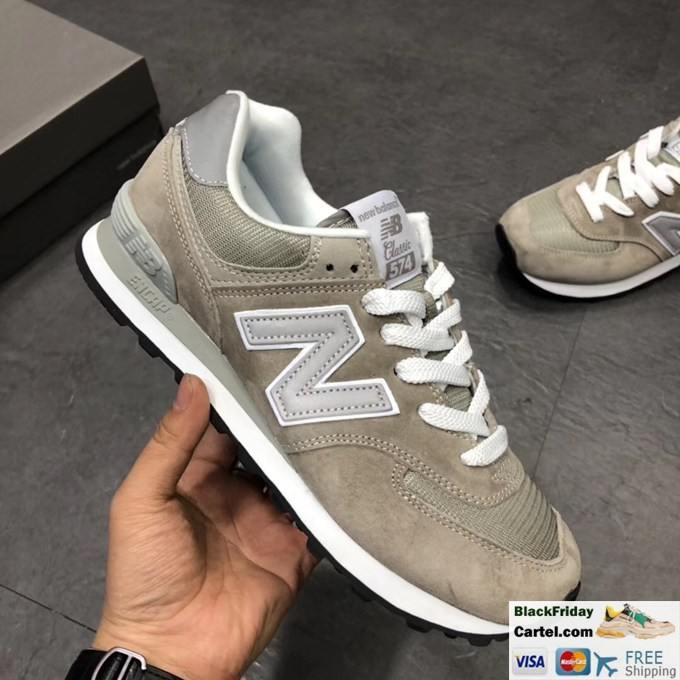 hot sale online 03fbd 744dd New Balance 574 Classic Olive Running Shoes