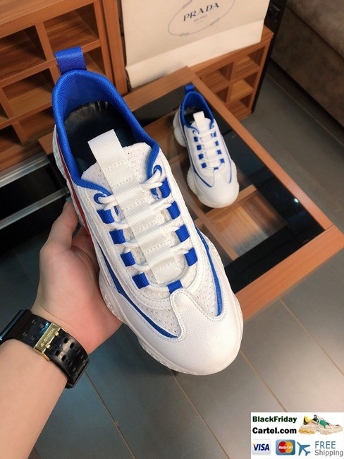High Quality Prada Summer 2019 New Men's Blue Increased Casual Shoes