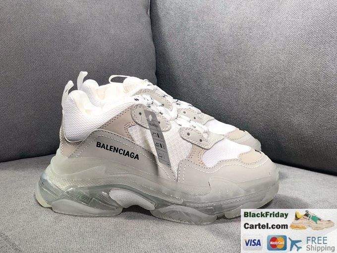 2019ss Balenciaga Triple S Vintage Daddy Shoes White & Light Brown