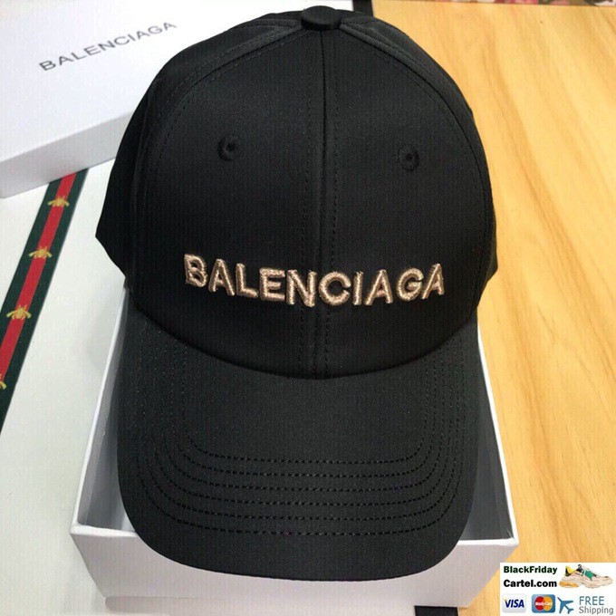 2019 New Balenciaga Black Baseball Hat