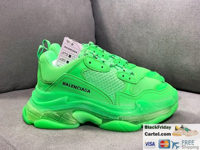 Balenciaga Triple S 2019ss Vintage Daddy Shoes Green