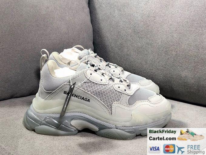 2019ss Balenciaga Triple S Vintage Daddy Shoes White