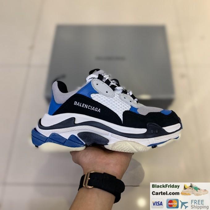 Balenciaga Triple S Vintage TPU Men's Blue Running Shoes