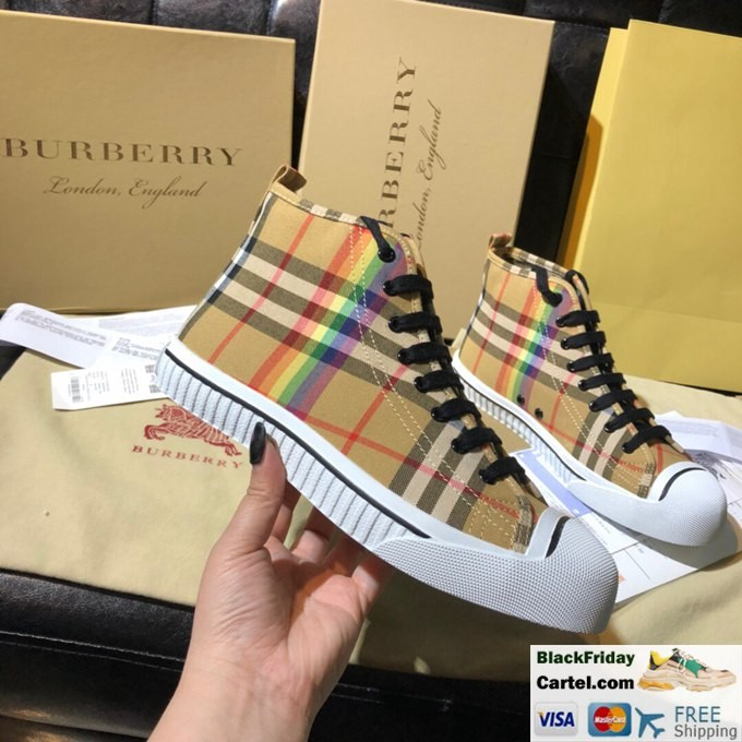 Burberry Vintage Rainbow Series Brown Casual Shoes High