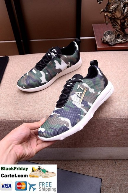 High Quality Armani 2019 New Explosion Men's Camouflage Casual Sports Shoes