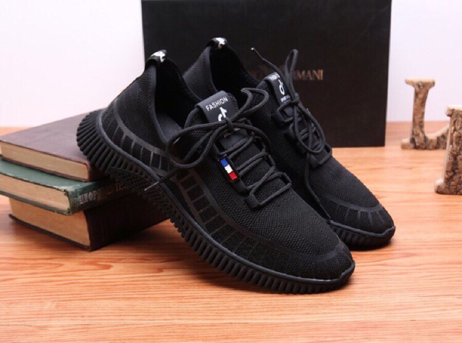 High Quality Armani 2019 Summer New Breathable Black Casual Shoes