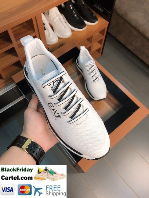 High Quality Armani 2019 Summer New Men's White Casual Shoes