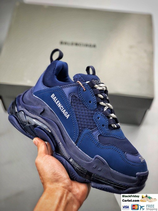 High Quality Balenciaga Triple S Sneakers Blue Online