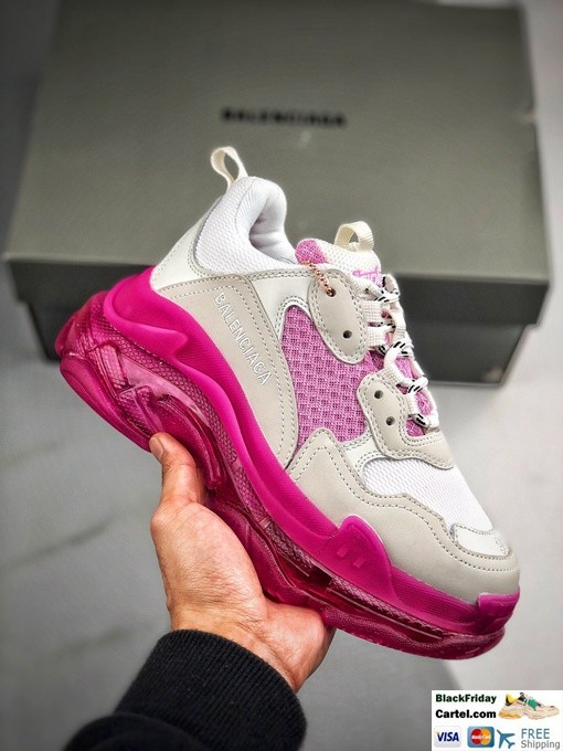High Quality Balenciaga Triple S Sneakers Whtie & Pink