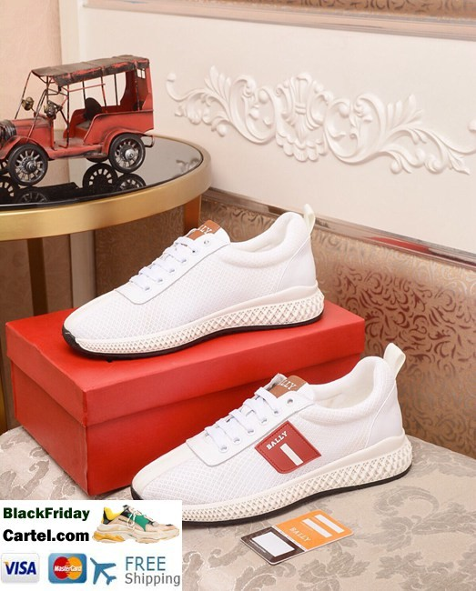 High Quality BALLY 2019 New British Style Men'S White Casual Sports Shoes