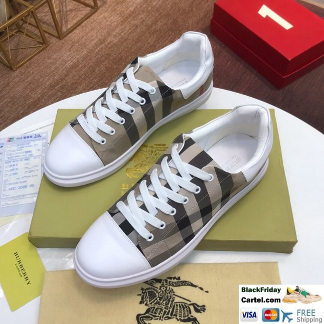 High Quality Burberry 2019 Explosion Models Khaki Casual Men's Shoes
