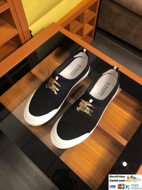 High Quality Burberry 2019 New Black  Men's Lazy Shoes