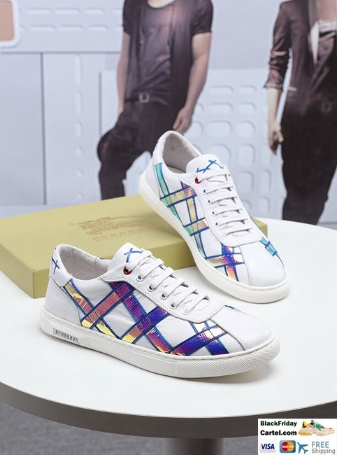 High Quality Burberry 2019 New White Casual Men's Shoes