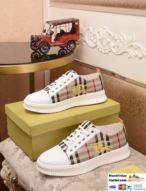 High Quality Burberry 2019 New Yellow Brown Casual Men's Shoes