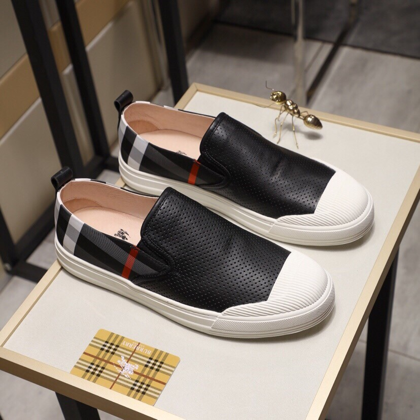 High Quality Burberry 2019 New Black Breathable Lazy Shoes