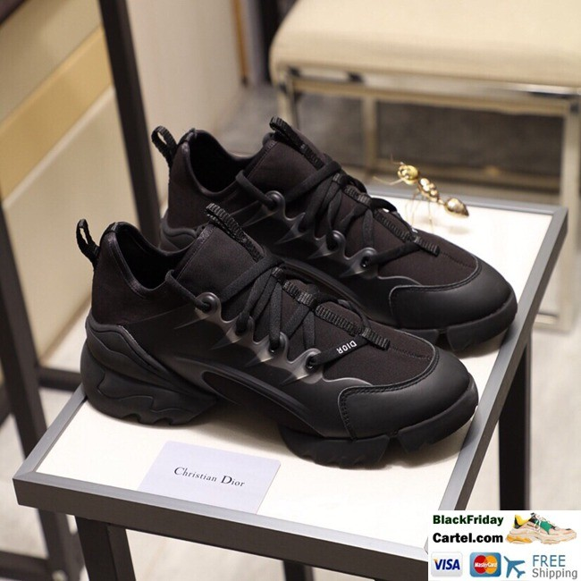 High Quality Dior19 2019 Spring And Autumn New Black Couple Casual Shoes