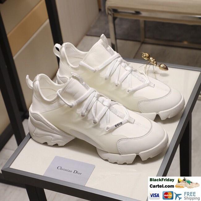 High Quality Dior19 2019 Spring And Autumn New White Couple Casual Shoes