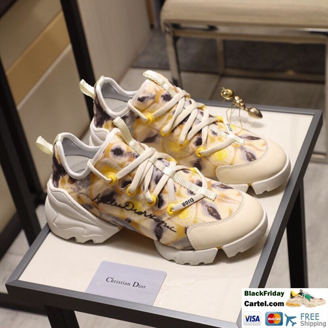 High Quality Dior19 2019 Spring And Autumn New Yellow Couple Casual Shoes