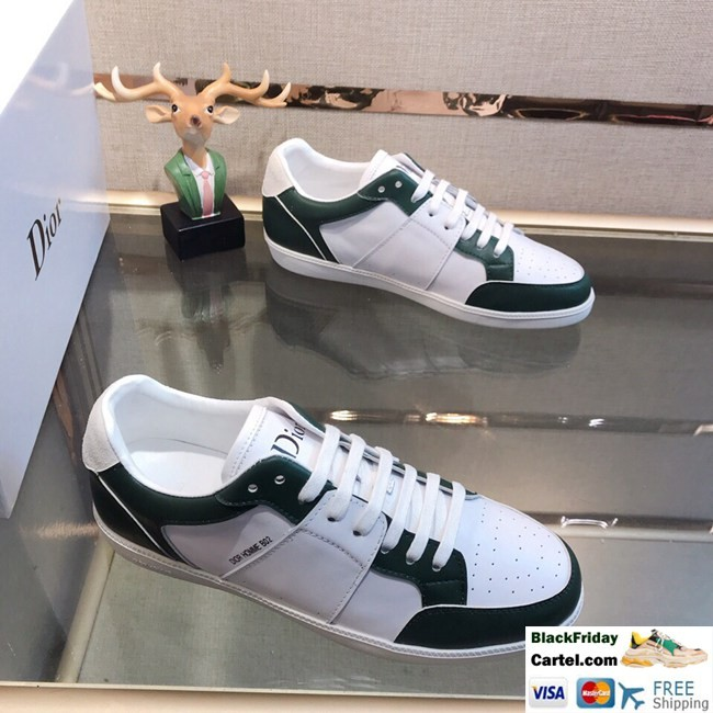 High Quality Dior 2019 New Explosion Dark Green Casual Men's Shoes