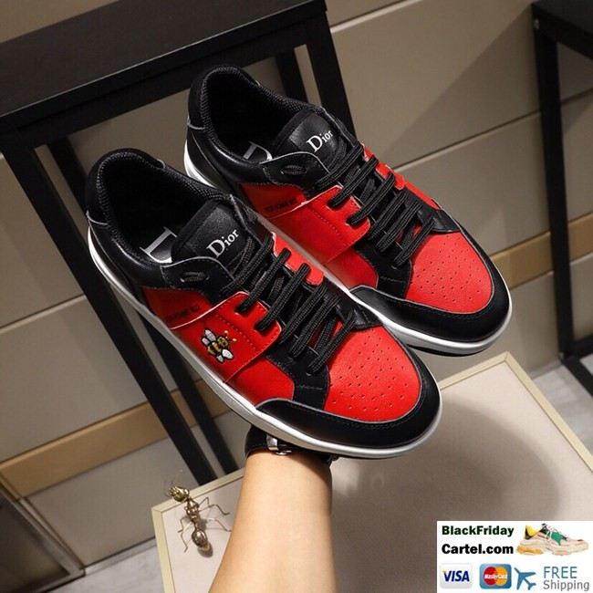 High Quality Dior 2019 New Red Casual Men's Shoes