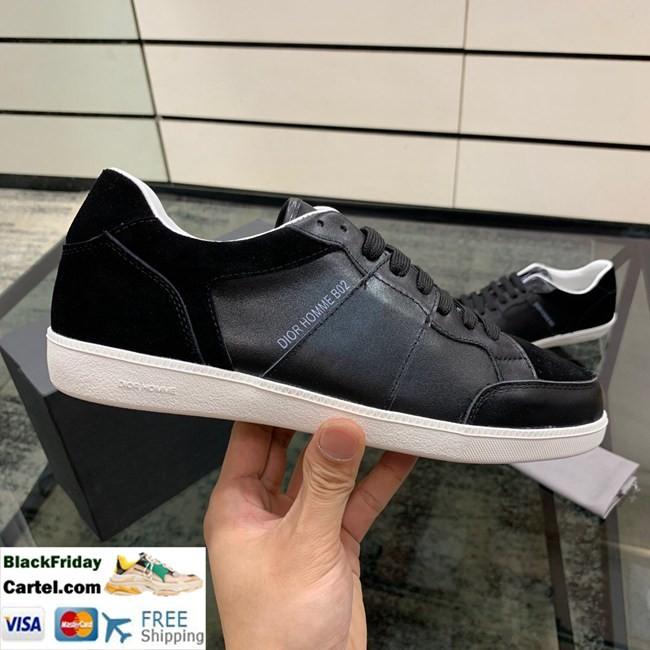 Hight Quailty New Dior Men's Black Casual Shoes