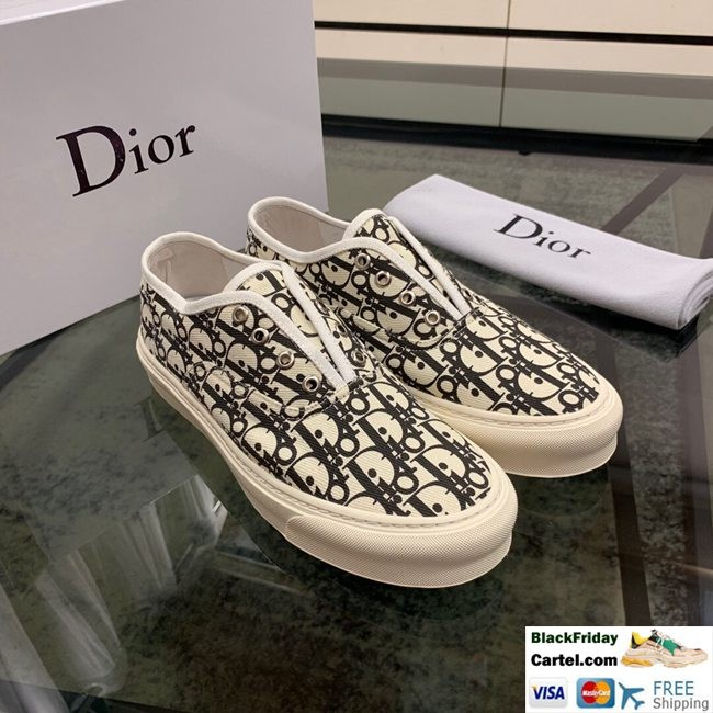 High Quality Dior 2019 New White Casual Set Of Men's Shoes