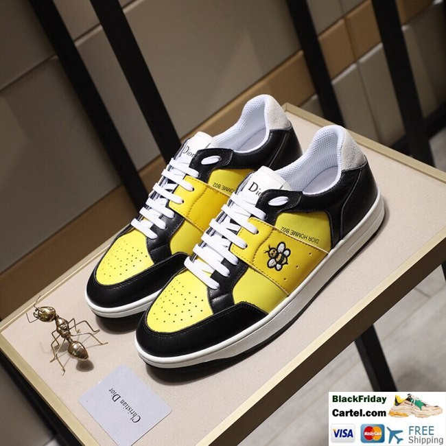 High Quality Dior 2019 New Yellow Casual Men's Shoes