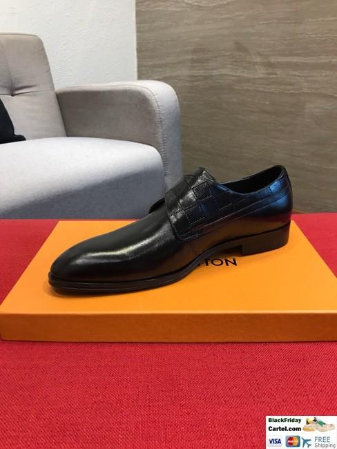 High Quality Louis Vuitton 2019 Black Men's Business Shoes