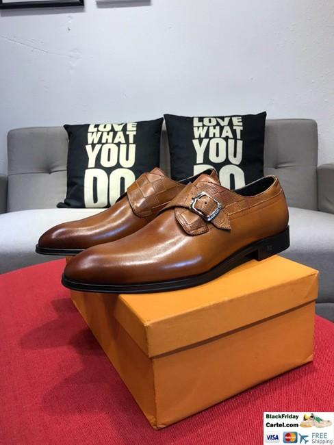 High Quality Louis Vuitton 2019 Brown Men's Business Shoes