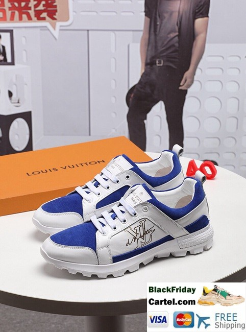 High Quality Louis Vuitton 2019 Explosion Men's Blue  Casual Shoes