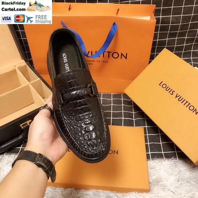High Quality Louis Vuitton 2019 Men's Brown Business Shoes