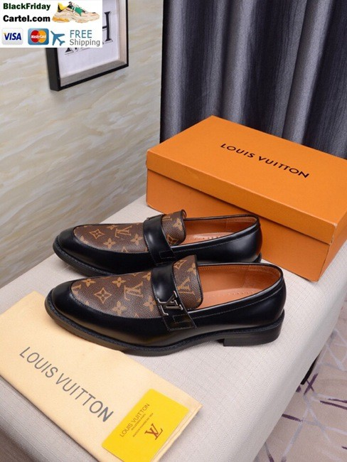 High Quality Louis Vuitton 2019 Men's Brown Business Shoes