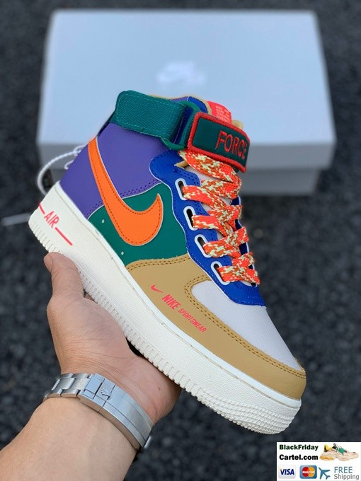 High Quality Nike Air Force 1 Mid Trainers Mixed Color