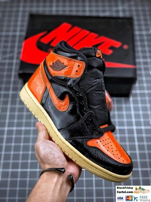 High Quality Nike Air Jordan 1 Retro High Sneakers Black & Orange