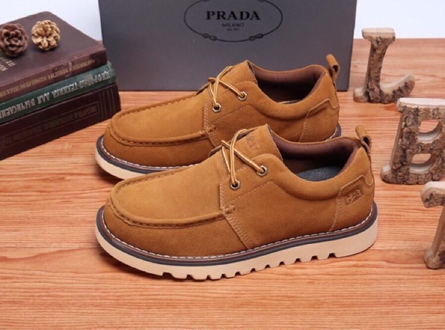 High Quality Prada 2019 British Wind Dark Brown Men's Casual Shoes