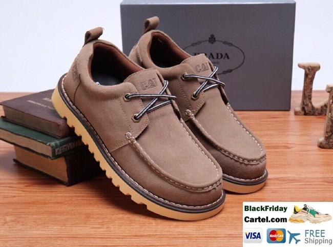 High Quality Prada 2019 British Camel Men's Casual Shoes