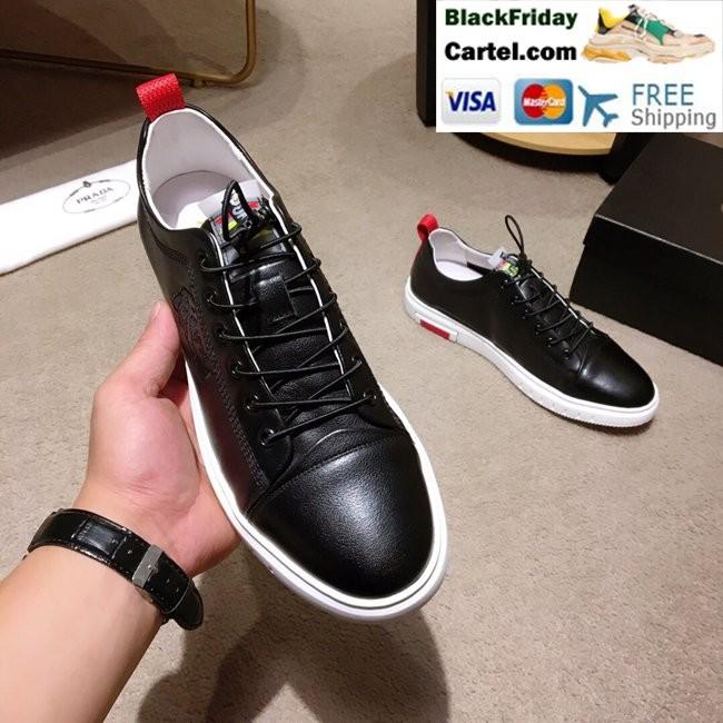 f966f8a7 High Quality Prada 2019 New Classic Black Casual Men's Shoes