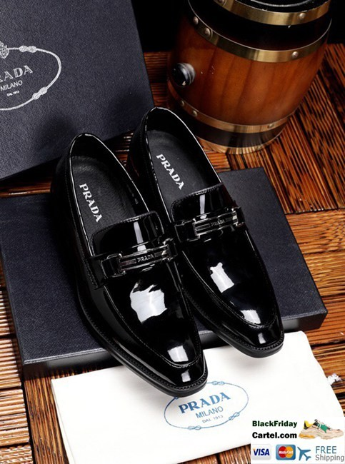 High Quality Prada 2019 New Men's Black Leisure Business Shoes