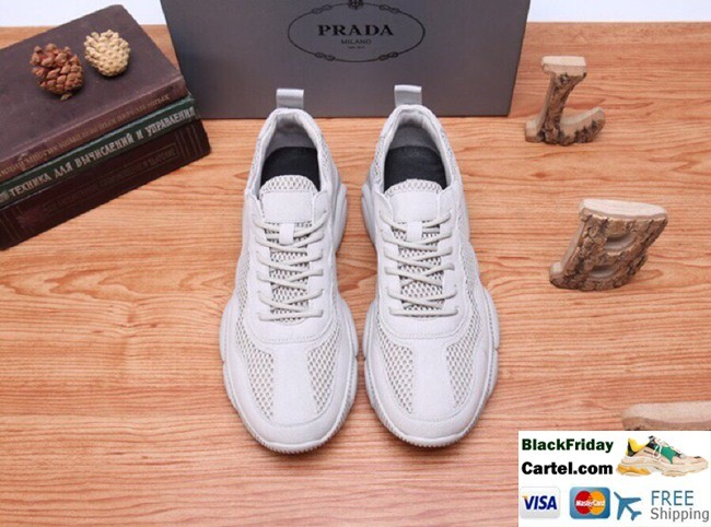 High Quality Prada Summer 2019 New Men's Grey Casual Shoes
