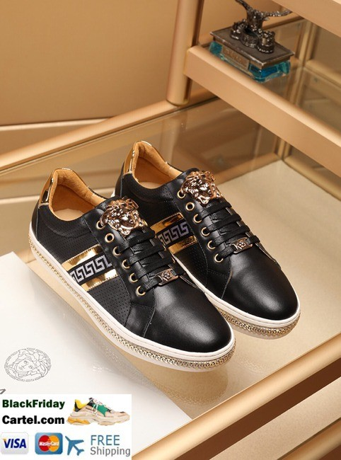 High Quality Versace 2019 New Men's Black Casual Shoes