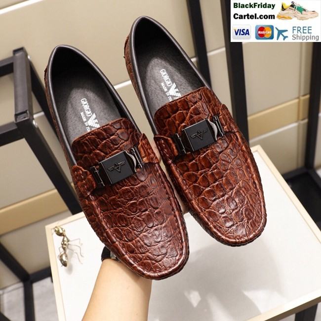 Hight Quality Amani 2019 New Men's Brown Peas Shoes