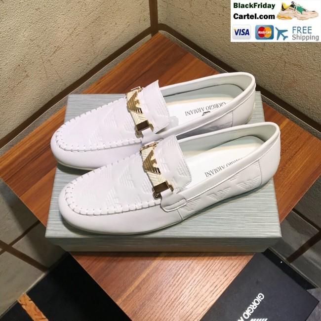 Hight Quality Amani 2019 New Men's White Peas Shoes