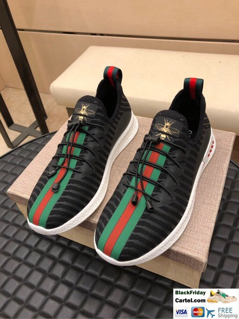 39835aee Hight Quality Gucci 2019 New Men's Black Casual Sports Shoes