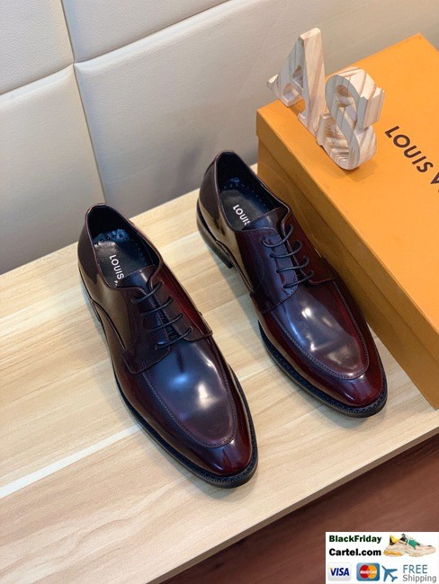 Hight Quality Louis Vuitton 2019 Men's Wine Red Business Shoes