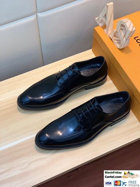 Hight Quality Louis Vuitton 2019 Men's Black Business Shoes