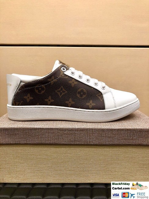 Hight Quality Louis Vuitton 2019 Men's Classic Brown Casual Shoes